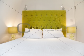 Bright luxurious bed design