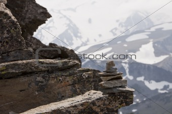 Rock Cairn At Altitude