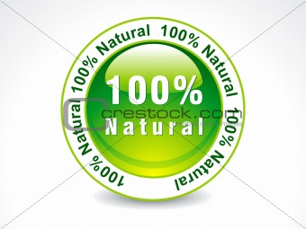 abstract 100 % Natural stamp
