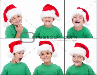 Happy child with christmas hat