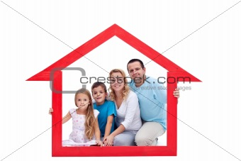 Family in their home