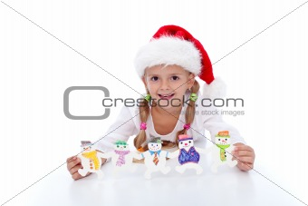 Little girl at christmas time
