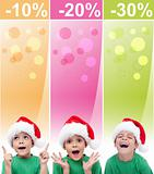 Crazy christmas sales banners