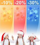 Crazy christmas sale banners with little girl