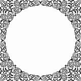Vintage floral frame. Decorative pattern. Vector illustration.