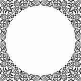 Vintage floral frame. Decorative pattern. Vector illustration.