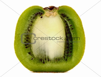 Kiwi fruit on a white