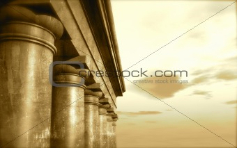 3d antique classical architecture roman monument render