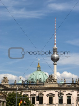 Cathedral and tv tower of Berlin