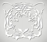 vector paper tiger head
