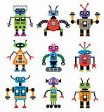 vector set of robots