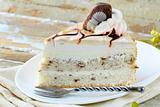 White Cream Icing Cake with Chocolate