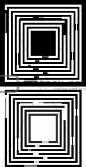 Abstract diminishing squares design