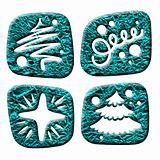 newyear three-dimensional icons