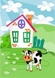 Farm landscape - vector