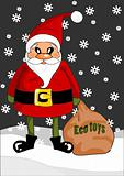 Santa claus with eco toys