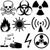 Warning and hazard symbols