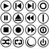Media control and power symbols