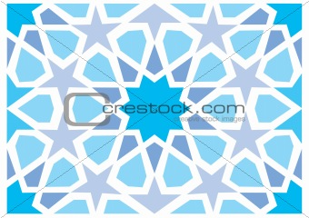 Geometric interlaced pattern