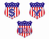 USA geraldic shileds and blazons