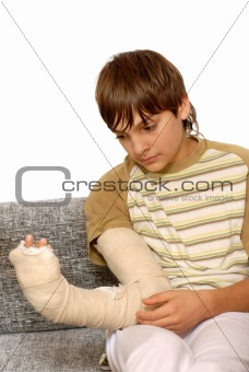 Boy with broken arm