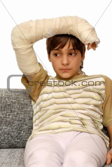 Boy with broken arm