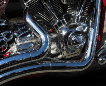 Motorcycle engine detail