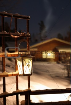 Light in candle lantern
