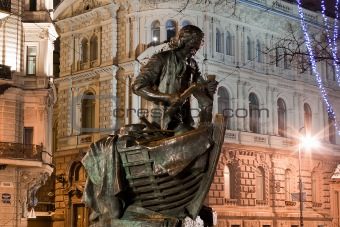 Horizontal view of statue Peter the Great, St. Petersburg
