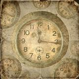 Vintage clock. Abstract time theme background