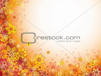 abstract flower orange color pattern