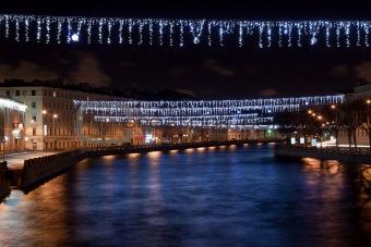 Fontanka river. St. Petersburg, Russia