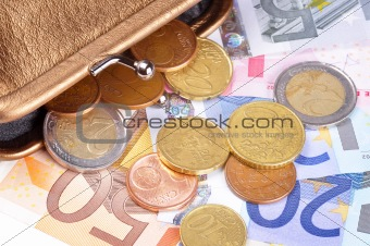 Money coming out of a wallet