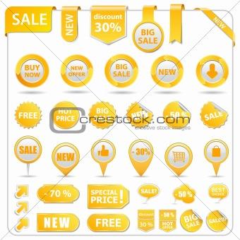 Vector Sale Tags