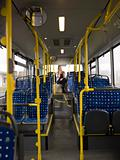 Lonely woman on the bus