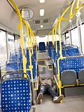 Lieing on the bus