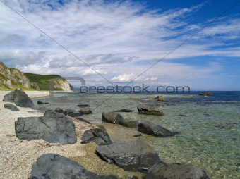 Stony sea coast