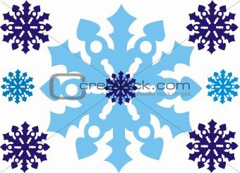 Celebratory snowflakes