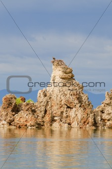 Aerie atop a tufa in mono Lake