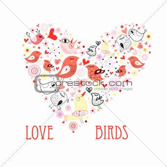 heart of love birds