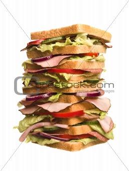 Oversized sandwich
