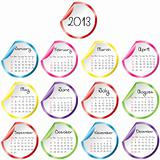 Calendar for 2013 with stickers