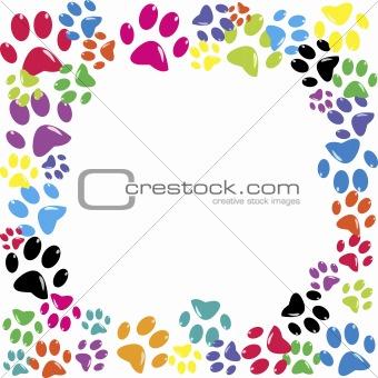 Frame made of animal paws