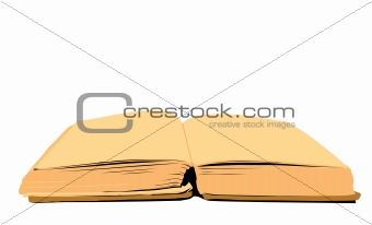 aging book on white background, vector illustration