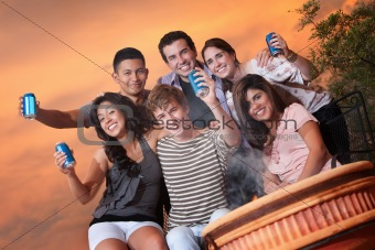 Teens Hold Cans