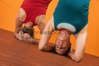 Women in Sirasana Position