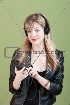 Teen Listens To Music