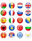 Europe flags buttons, part one
