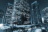 skyscraper in blue