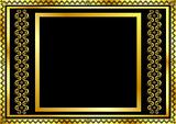 Gold pattern frame with waves and stars_11(166).jpg